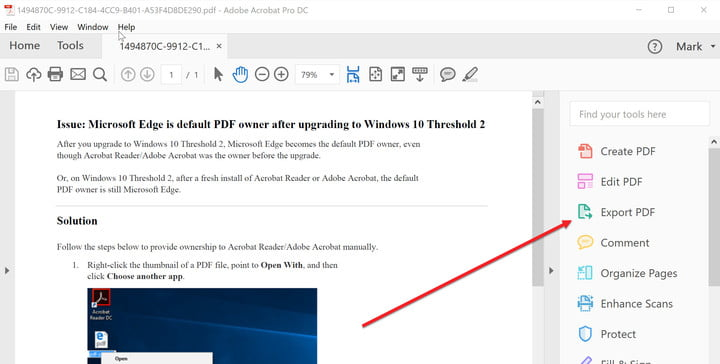 convertir un fichier PDF en document Word