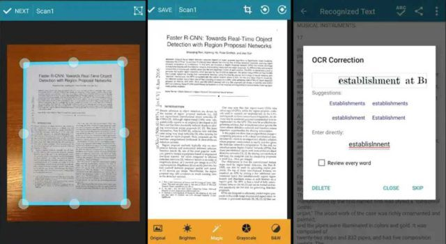 applications pour scanner des documents