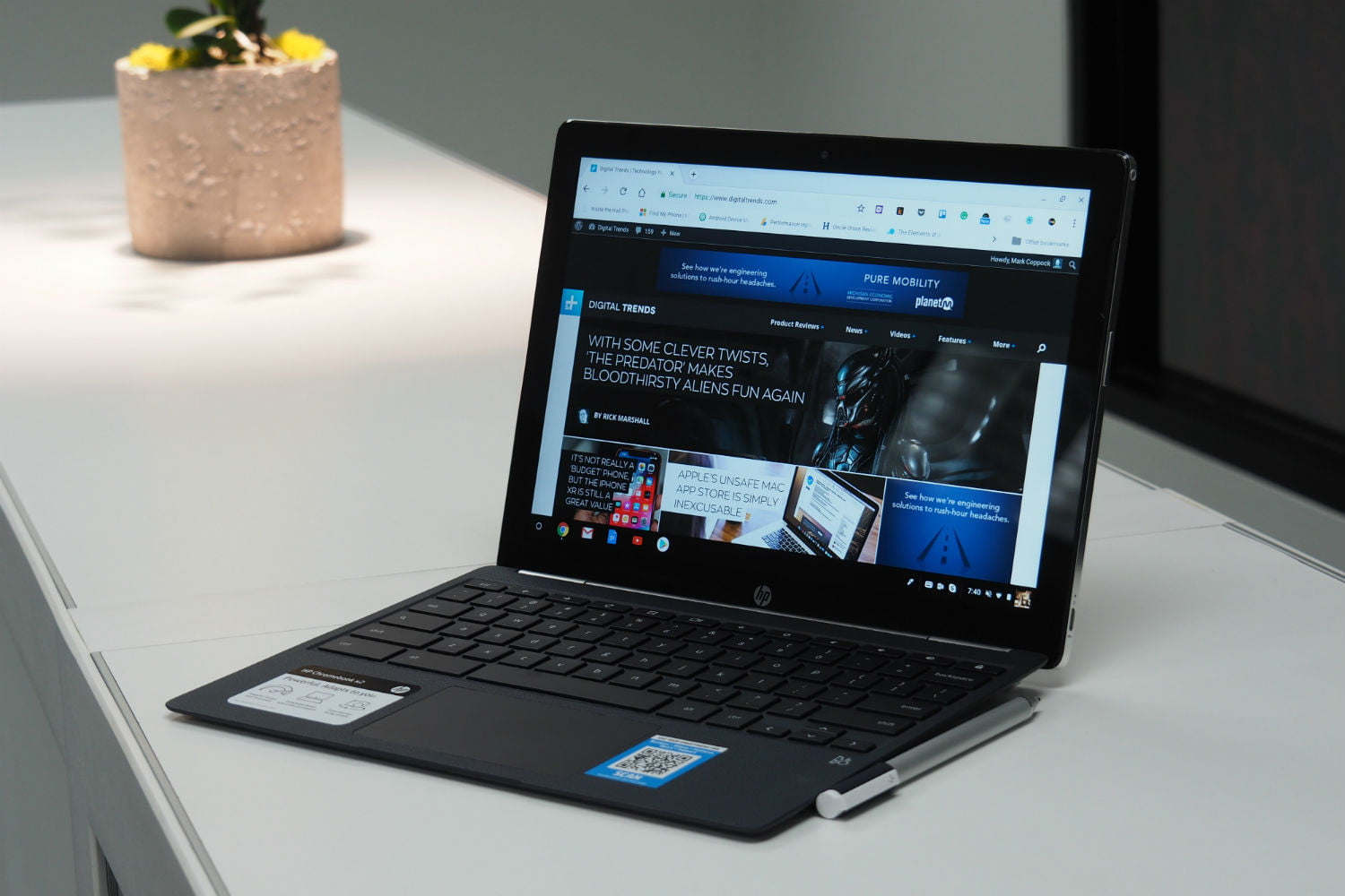 Le meilleur Chromebook 2 en 1: HP Chromebook x2